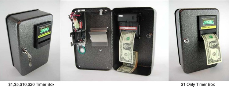 3370 Coin Box w/Timer & Bill Acceptor