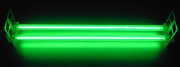 Bright Green Colored Straight Tube CCFL
